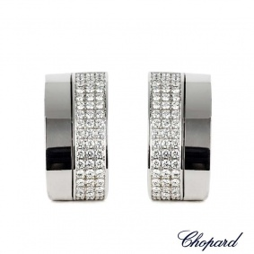 Chopard 18k White Gold Diamond Pave Earrings 84/3949-1001